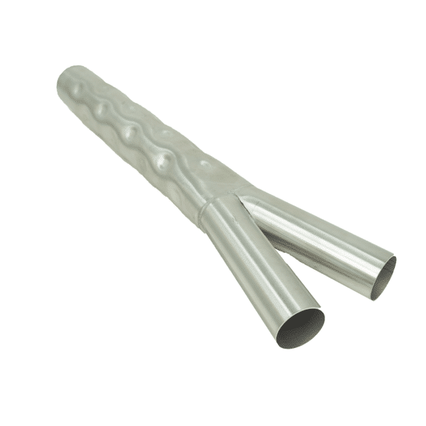 """Corrugated Splitter Tube, 2.5"""" Inlet 2 1.75"""" Outlets JAS9000W"""