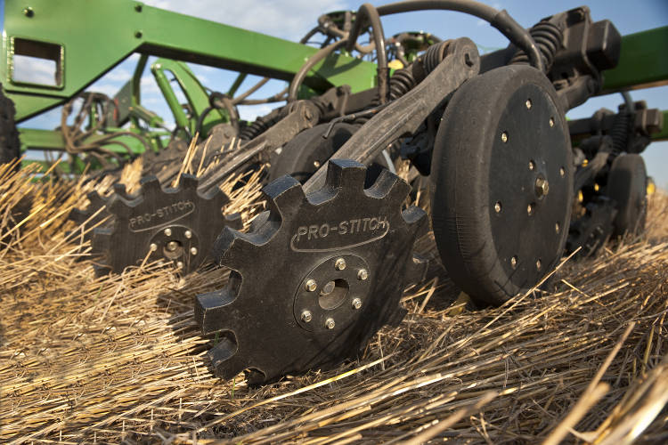 Pro-Stitch Drill Closing Wheels on John Deere 60 and 90 Series planters