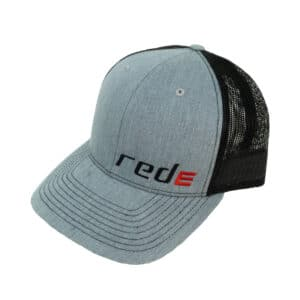 Red E Hat - Light Grey